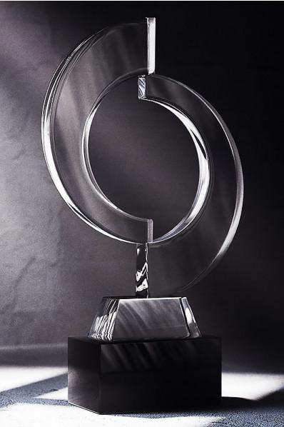 Two Crystal Rings Trophy