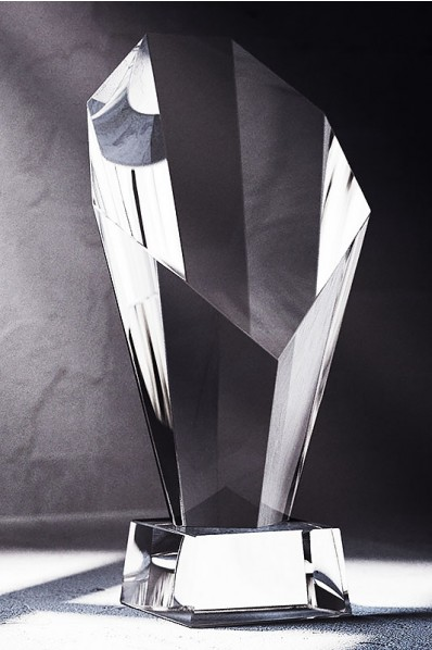 Solid Crystal Statuette