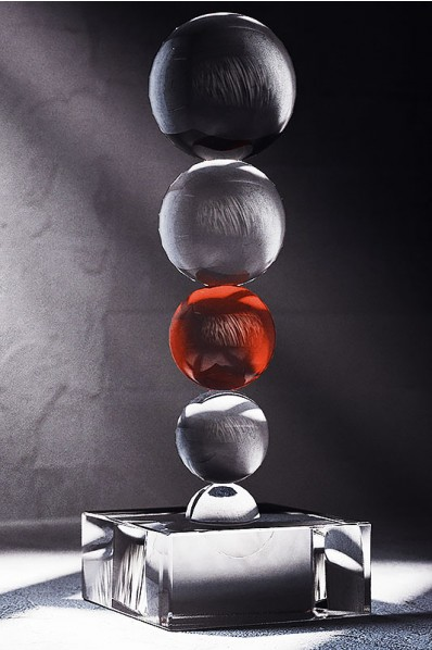 Stacked Glass Spheres