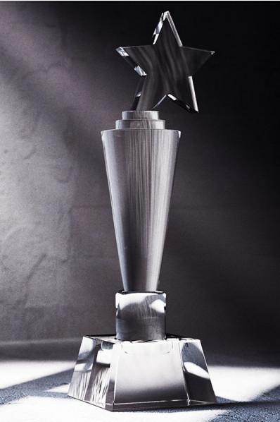 Crystal Star Sports Trophy