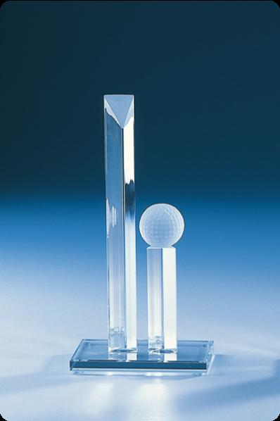 Narrow Prism Crystal Trophy