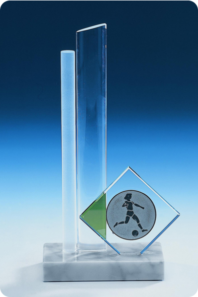 Narrow Clear Glass Strop Statuette