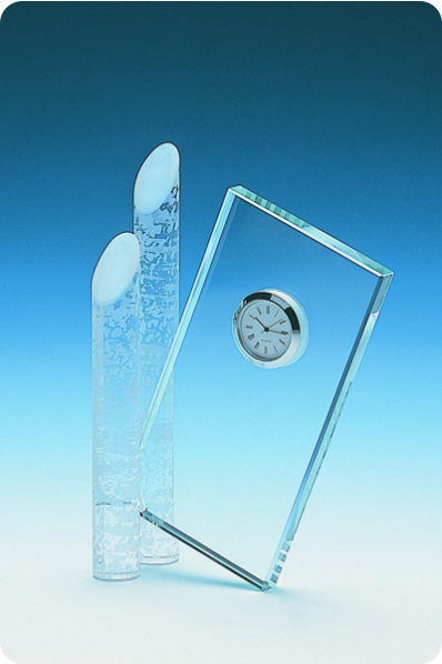 Crystal Clock with Glass Rods