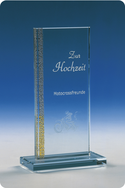 Glass Trophy Plaque