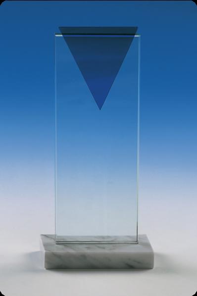 Glass Triangle Rectangular Plaque