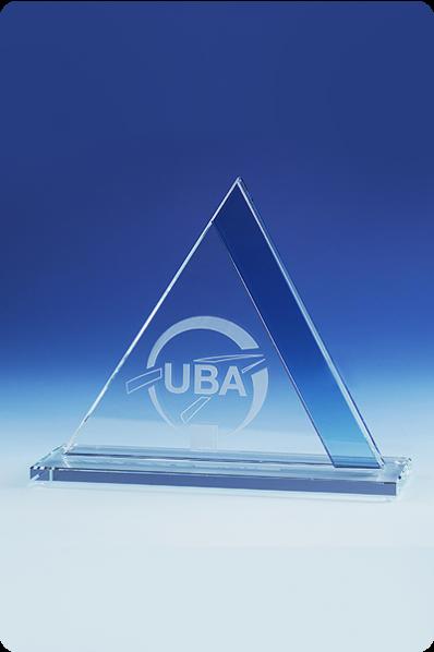 Pyramid Glass Statuette