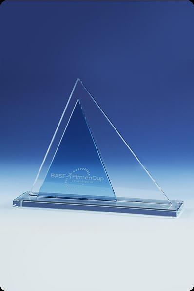 Triangle Pyramid Glass Plaque