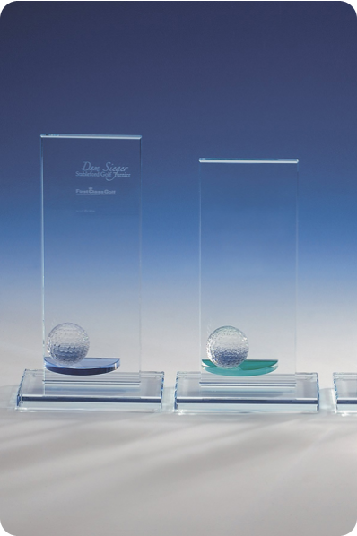 Glass Plaques with a Playing Ball