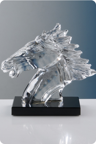 Glass Horse Head Trophy