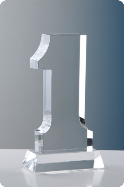 Number 1 Glass Statuette