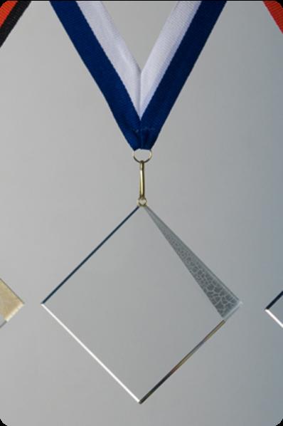 Glass Square Medal