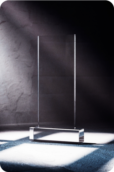 Simple Glass Plaque
