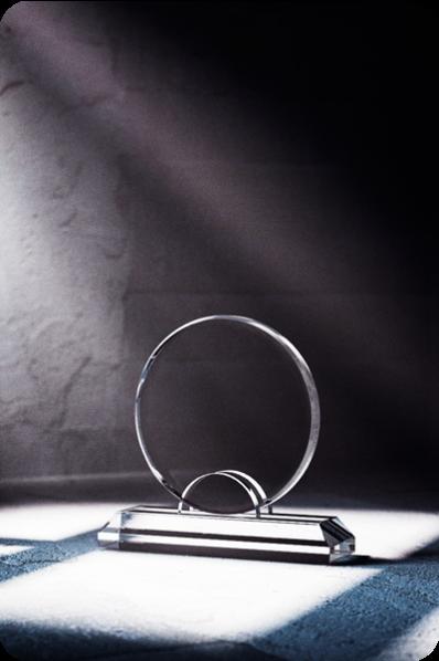 Round Plaque Statuette