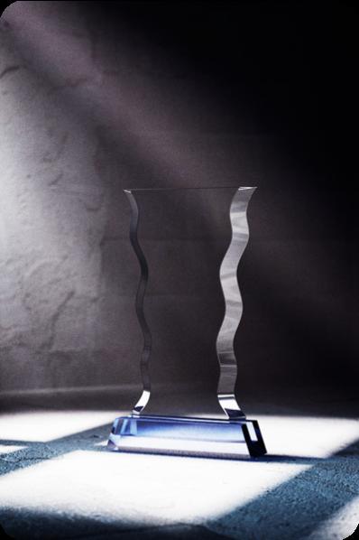 Wavy Crystal Plaque