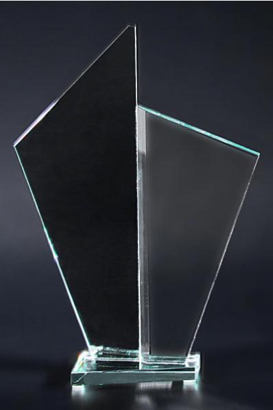 Twin Crystal Award Plaque