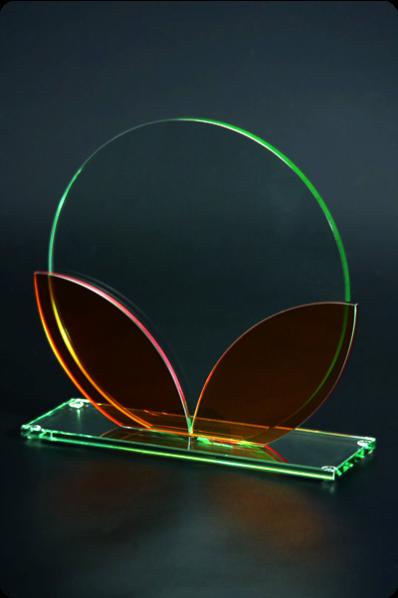 Colored Glass Glass Circular Plaque