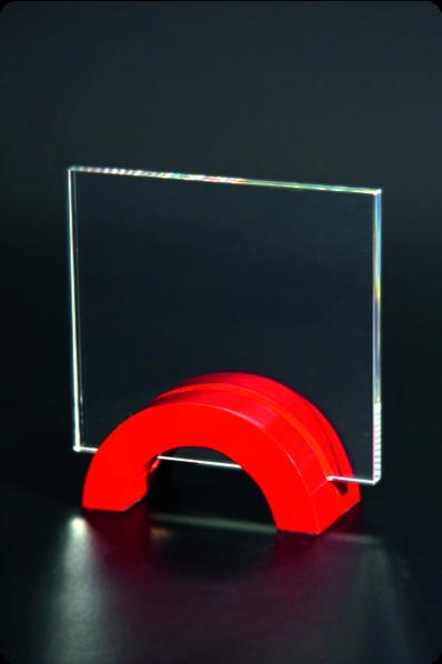 Arc Base Crystal Plaque