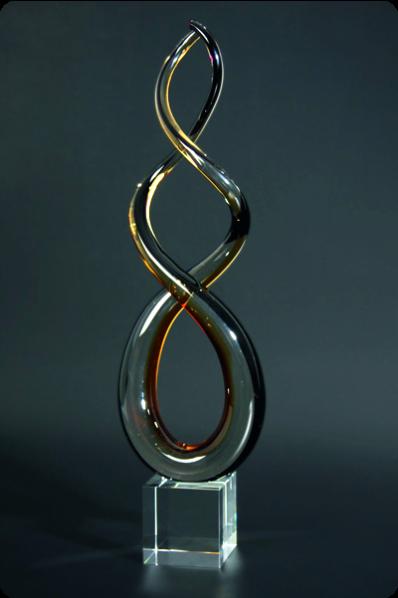 Crystal Swirl Statuette