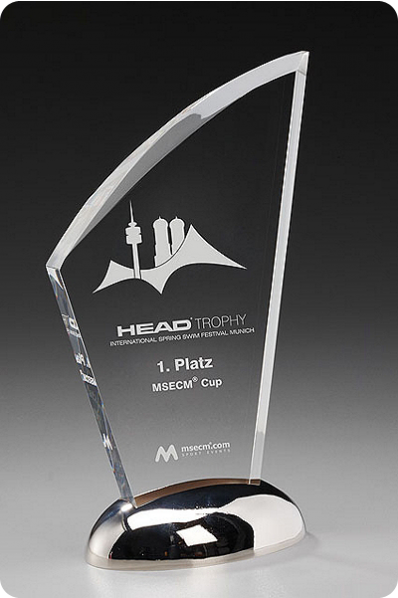 The Sail Shaped Crystal Plaque