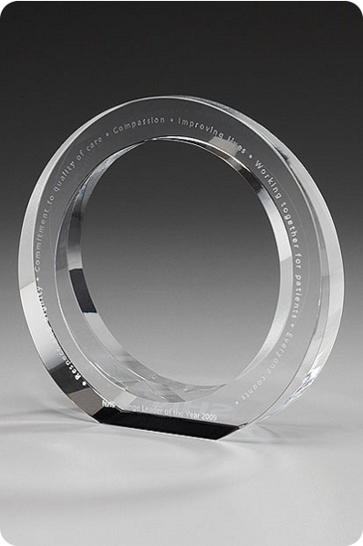 Round Crystal Statuette