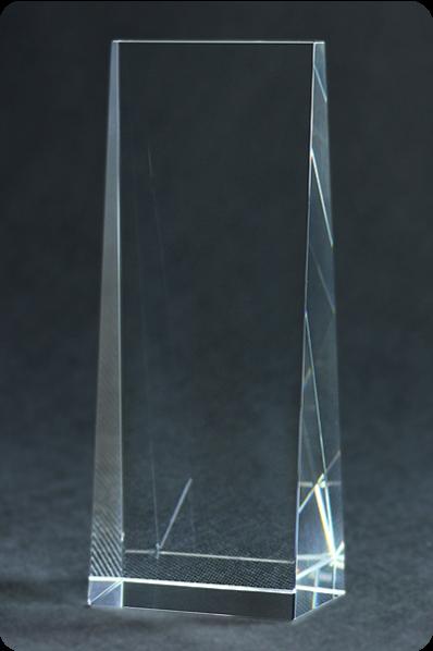Narrowing Crystal Plaque