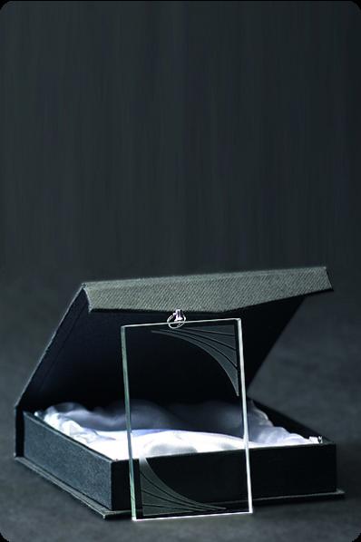 Rectangular Glass Medal