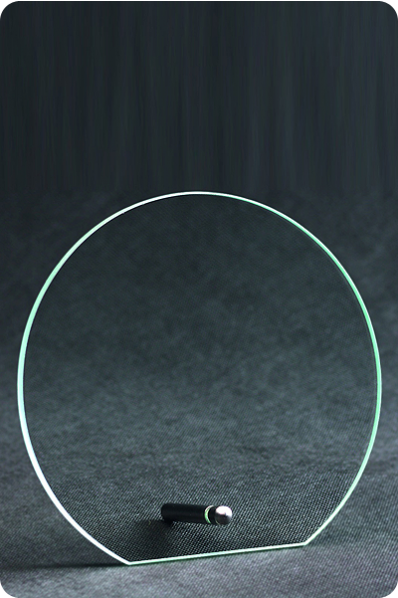 Circular Glass Plaque with stand