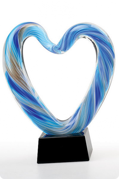 Glass Heart Award Statuette 2