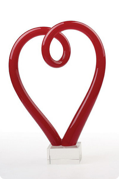 Glass Heart Swirl