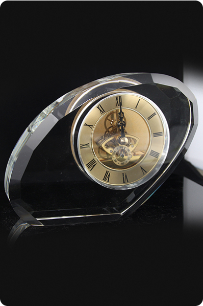 Unique Crystal Mechanical Clock