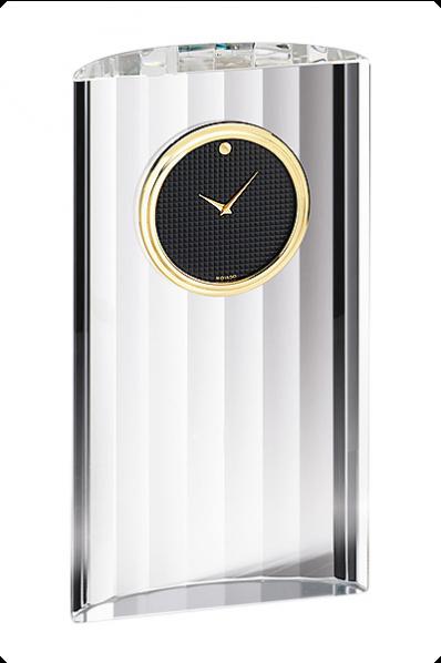 Narrow Crystal Modern Clock