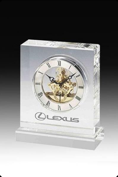 Crystal Clock with Sprocket Mechanism
