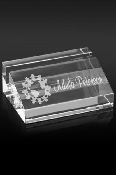 Glass card holder