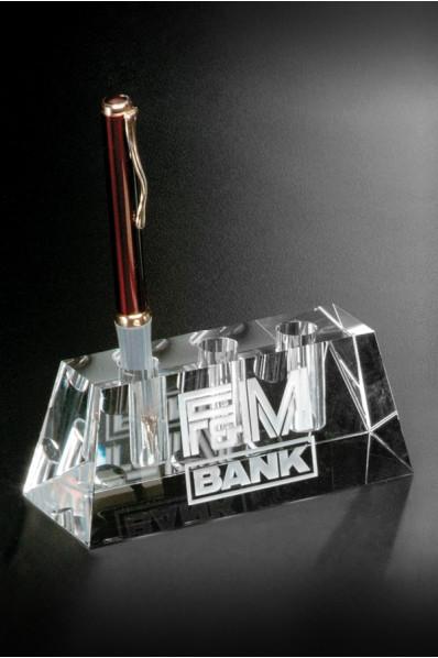 Glass pen holder