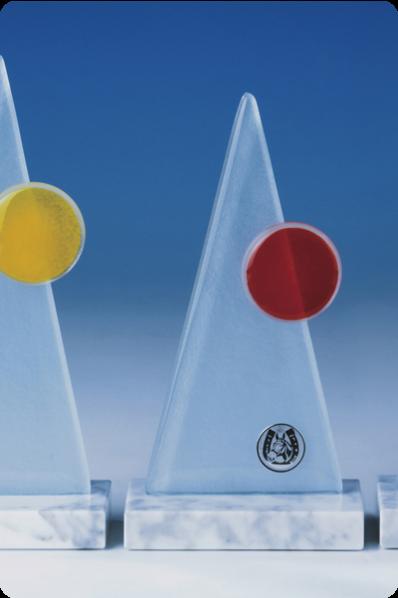 Pyramid Glass Plaque