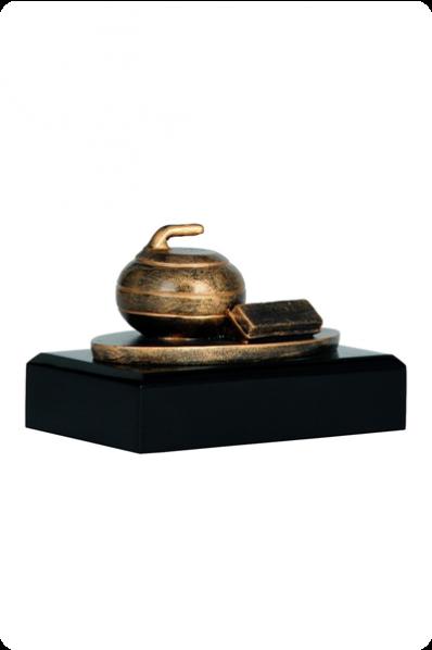 Curling Statuette