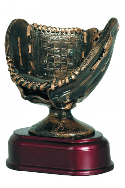 Baseball Glove Resin Trophy