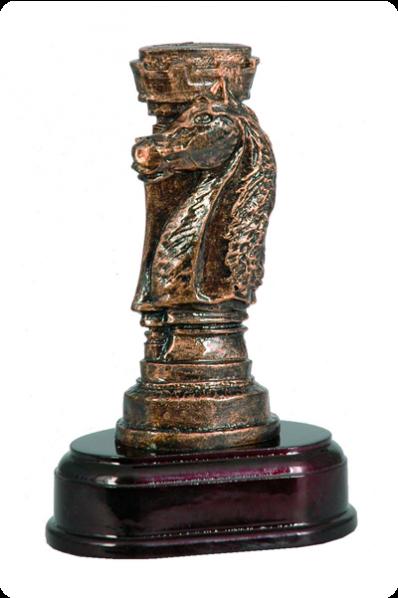 Chess Knight & Rook Resin Award
