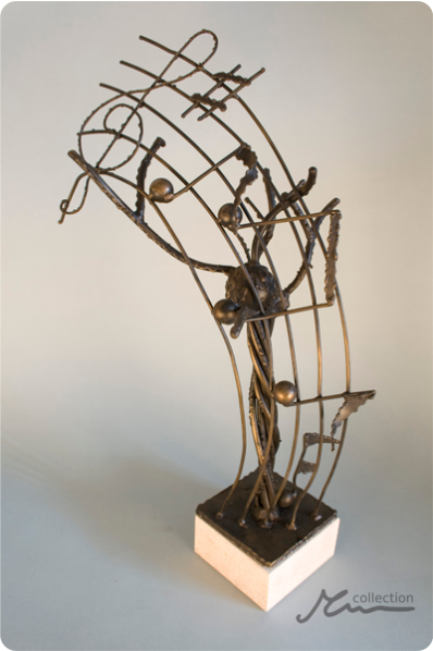 Stave Music Notes Trophy