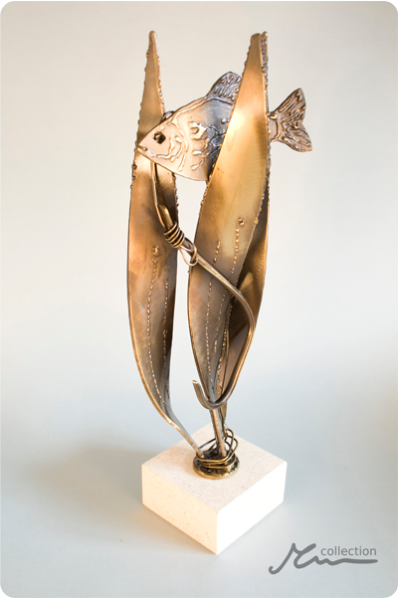 Fish Metal Statuette